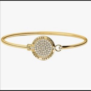 Jewelry - Coin gold tone bangle